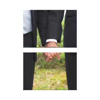Two Grooms on Double Canvas Gallery Wrapped Canvas