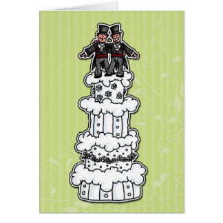 Two Grooms on Wedding Cake Greeting Cards