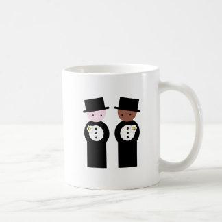 Two grooms one caucasian coffee mug