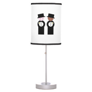 Two grooms one caucasian desk lamp