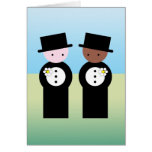 Two grooms one caucasian greeting card