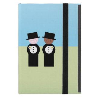 Two grooms one caucasian, one colored iPad mini case