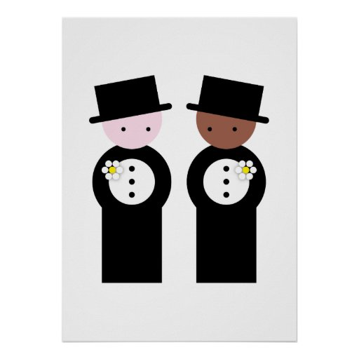Two grooms one caucasian print
