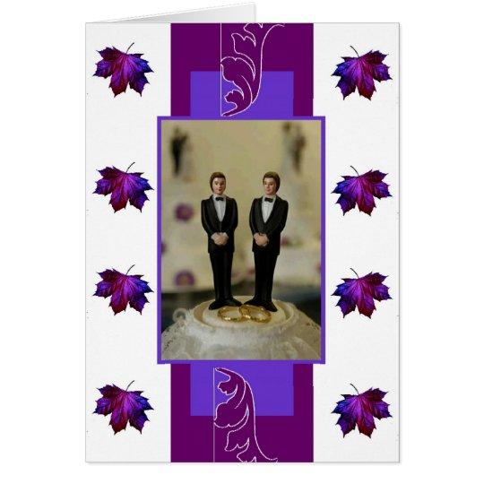 Two Grooms, Purple Theme Card