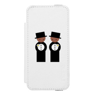 Two grooms wallet case for iPhone SE/5/5s