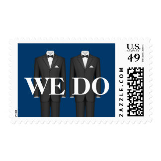 Two Grooms Wedding Stamp
