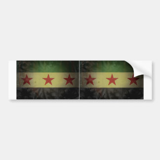 TWO Grungy Syria Flag Bumper Sticker