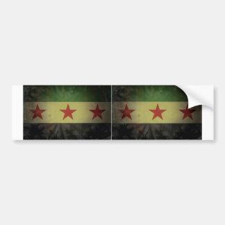 TWO Grungy Syria Flag Car Bumper Sticker