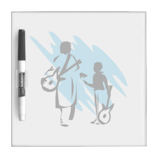 two guitar players outline musician blue.png dry erase whiteboards