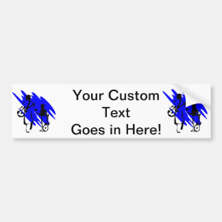 two guitar players outline musician dr blue.png bumper sticker