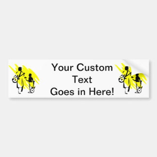 two guitar players outline musician yellow.png bumper sticker
