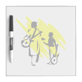 two guitar players outline musician yellow.png Dry-Erase whiteboard