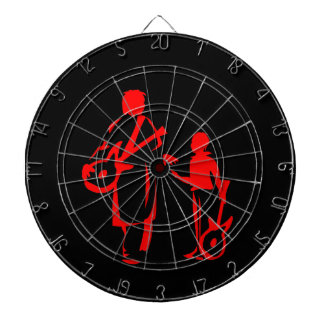 two guitar players red.png dart board