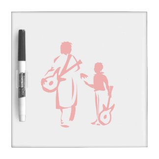 two guitar players red.png Dry-Erase board
