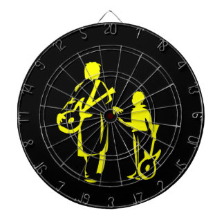two guitar players yellow.png dart board