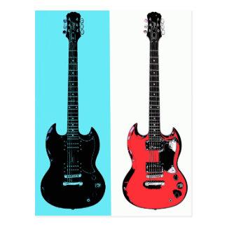 Two Guitars Postcard