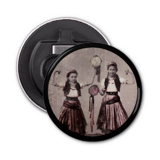 Two Gypsy Girls and Tamborines Bottle Opener