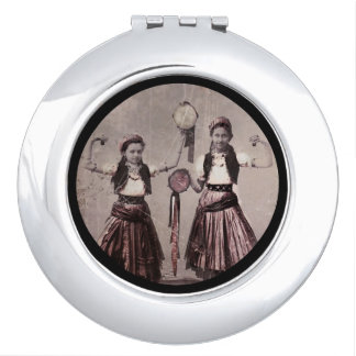 Two Gypsy Girls and Tamborines Compact Mirror