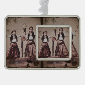 Two Gypsy Girls and Tamborines Ornament