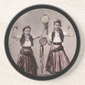 Two Gypsy Girls with Tamborines Coaster