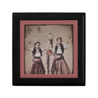 Two Gypsy Girls with Tamborines Gift Box