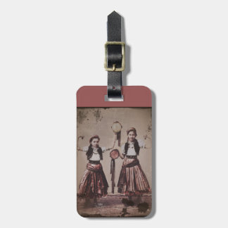 Two Gypsy Girls with Tambourines Bag Tag