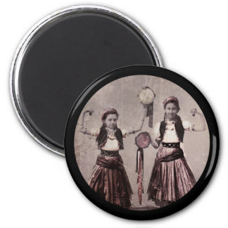 Two Gypsy Girls with Tambourines Magnet