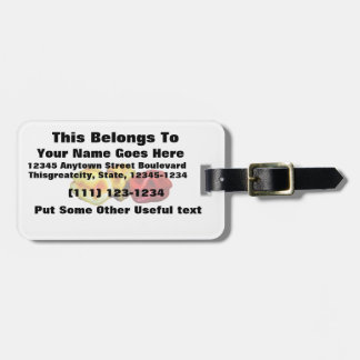 two habanero yellow one red pepper cutout graphic luggage tag