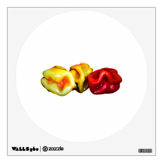 two habanero yellow one red pepper cutout graphic room sticker