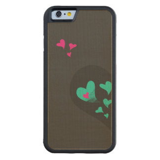 Two halves make one heart Part I Carved Maple iPhone 6 Bumper Case