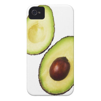 Two halves of an an avocado, on white iPhone 4 cover