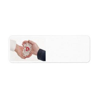 Two hands 2 custom return address labels