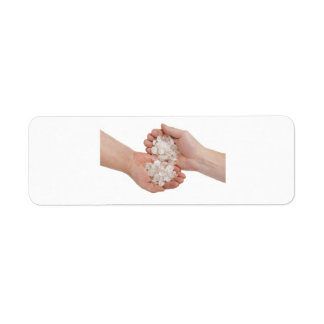 Two hands 2 return address labels