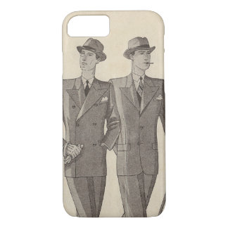 Two Handsome Gentlemen Strolling Side by Side iPhone 7 Case
