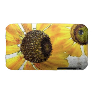 Two Happy-Faced Helenium Flowers iPhone 3 Cover