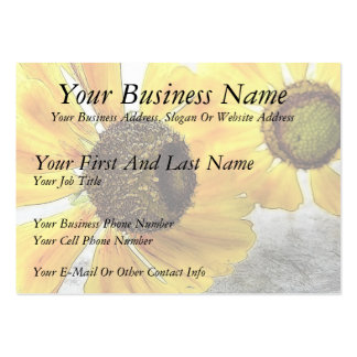Two Happy-Faced Helenium Flowers Large Business Card