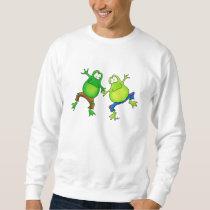 Two Happy Jumping Frog Buddies Sweatshirt