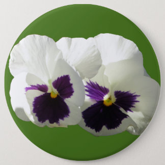 TWO HAPPY PANSIES PINBACK BUTTON
