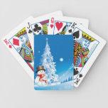 Two Happy Snowmen Poker Cards