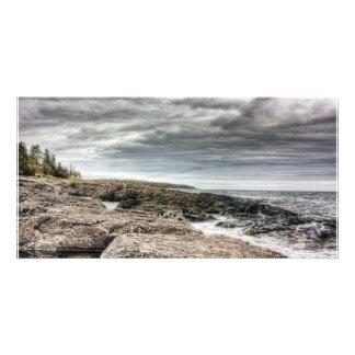 Two Harbors Lakeshore Custom Photo Card
