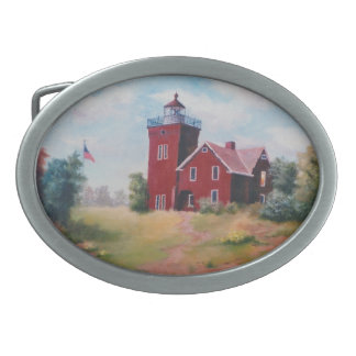 Two Harbors Lighthouse Belt Buckle