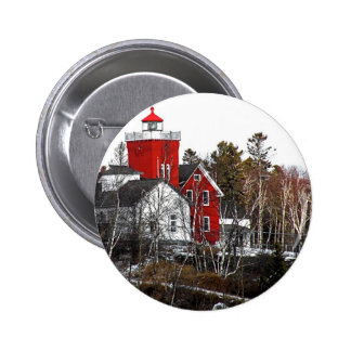 Two Harbors Lighthouse 2 Inch Round Button
