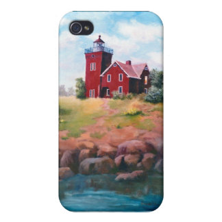 Two Harbors Lighthouse IPhone 4 Case