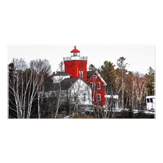 Two Harbors Lighthouse Photo Card Template