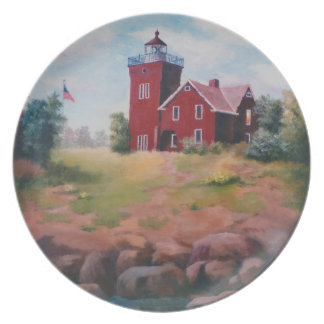 Two Harbors Lighthouse Plate