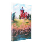 Two Harbors Lighthouse Wrapped Canvas Print
