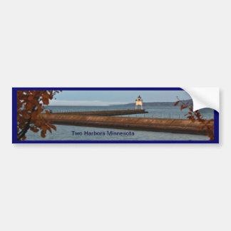 Two Harbors Pier Light Bumper Sticker