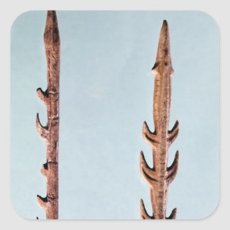 Two Harpoons, Upper Paleolithic Period Square Sticker