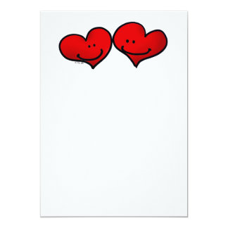 Two harts in love card