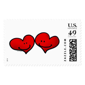Two harts in love stamp